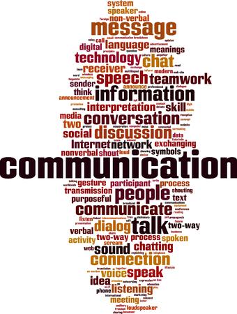 Word chmura koncepcji komunikacji. ilustracji wektorowych