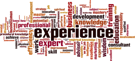 Experience word cloud concept. Vector illustration