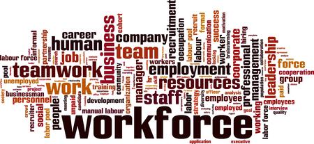 informal: Workforce word cloud concept. Vector illustration