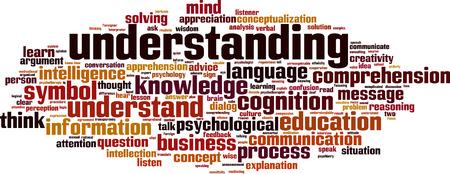 understandable: Understanding word cloud concept. Vector illustration