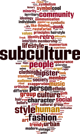 subculture: Subculture word cloud concept. Vector illustration Illustration