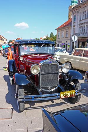 deluxe: CROATIA SAMOBOR, 17 JULY 2011: Ford Model A Deluxe Tudor, 14. Oldtimer Rally in Samobor, Croatia