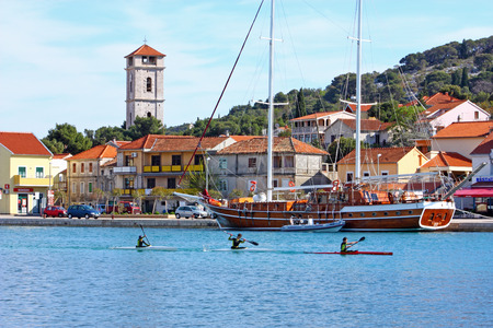 CROATIA TISNO, 9 APRIL 2012: Tisno is a town, located partly on mainland and partly on island of Murter, Croatia Editorial