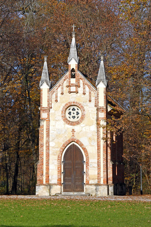 Catholic chapel in Novi Dvori forest in Zapresic, Croatia Stock Photo