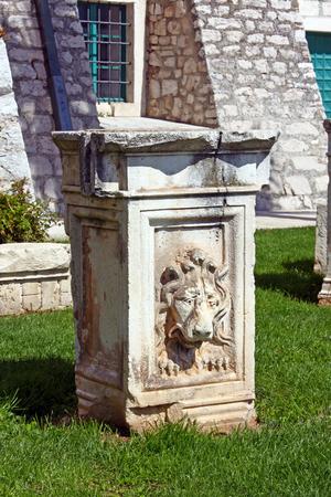 past civilizations: Archaeological remnant of an old Roman ruin in Sibenik, Croatia