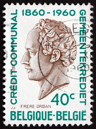 the statesman: BELGIUM - CIRCA 1960: a stamp printed in the Belgium shows H. J. W. Frere-Orban, Portrait, Was a Belgian Liberal Politician and Statesman, circa 1960