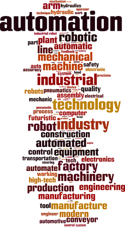 factory automation: Automation word cloud concept. Vector illustration Illustration