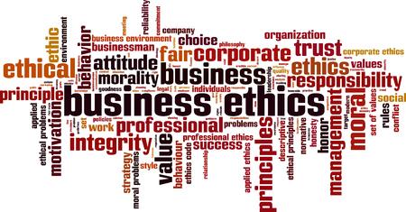 Business ethics word cloud concept. Vector illustration Vector Illustration