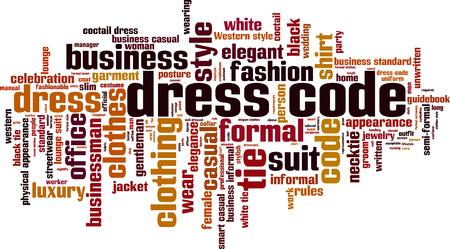 Dress code word cloud concept. Vector illustration