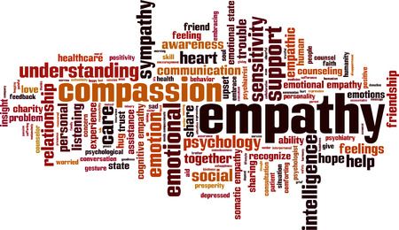 cloud: Empathy word cloud concept. Vector illustration