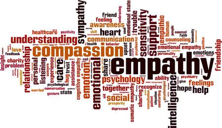 somatic: Empathy word cloud concept. Vector illustration