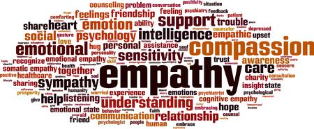 empatia: Empat�a palabra nube concepto. ilustraci�n vectorial Vectores