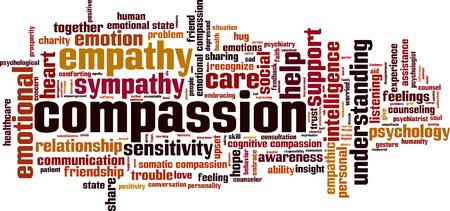 Compassion word cloud concept. vector illustratie