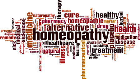 homeopathy: Homeopathy word cloud concept. Vector illustration Illustration