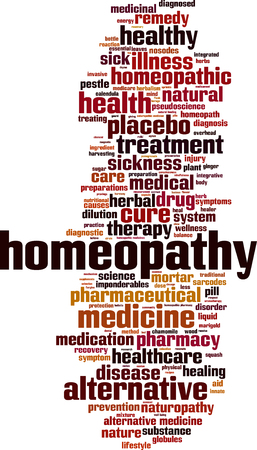 homeopath: Homeopathy word cloud concept. Vector illustration Illustration
