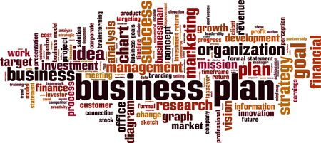 taxpayer: Business plan word cloud concept. Vector illustration