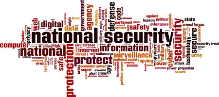 power projection: National security word cloud concept. Vector illustration Illustration