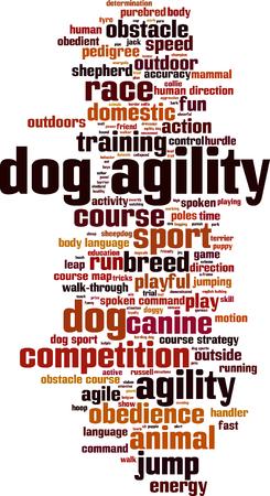 dog agility: Dog agility word cloud concept. Vector illustration