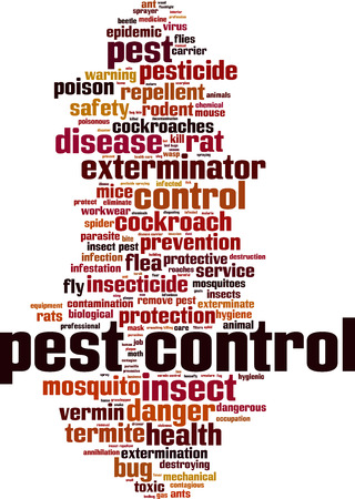 toxic cloud: Pest control word cloud concept. Vector illustration