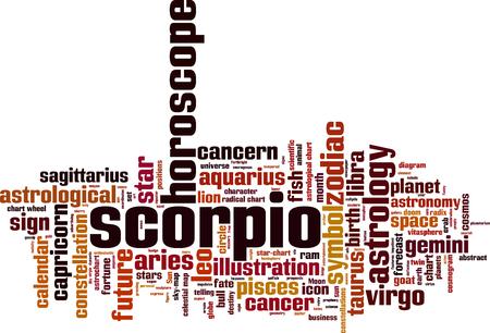 fate: Scorpio word cloud concept. Vector illustration