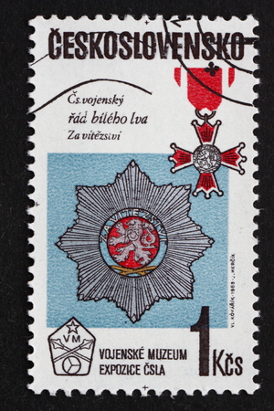 exposition: CZECHOSLOVAKIA - CIRCA 1985: a stamp printed in Czechoslovakia shows Medals, Military Museum Exposition, circa 1985 Editorial