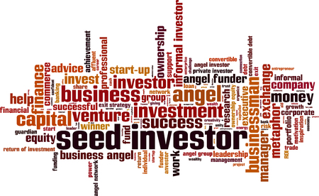 ownership equity: Seed investor word cloud concept. Vector illustration Illustration