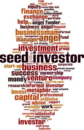 investor: Seed investor word cloud concept. Vector illustration Illustration