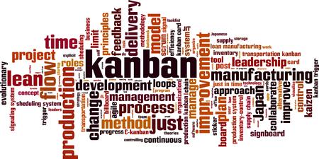 Kanban word cloud concept.  illustration