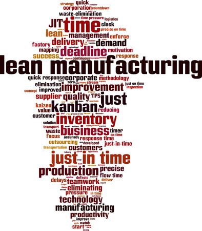 response time: Lean manufacturing word cloud concept. illustration