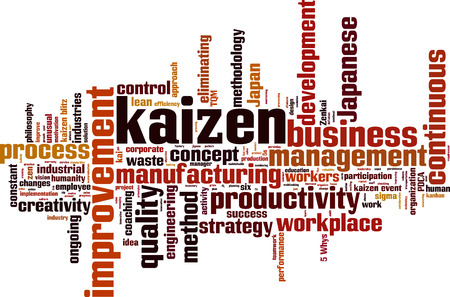 kaizen: Kaizen word cloud concept. illustration Illustration