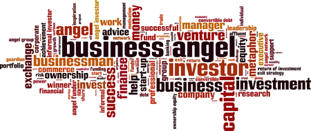 ownership equity: Business angel word cloud concept. illustration