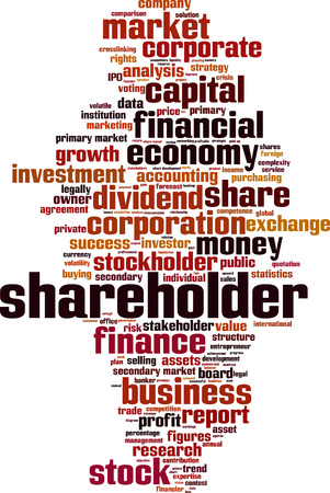 shareholder: Shareholder word cloud concept. illustration