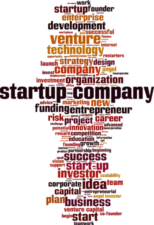 scalability: Startup company word cloud concept. Vector illustration