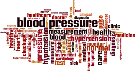 systemic: Blood pressure word cloud concept. Vector illustration