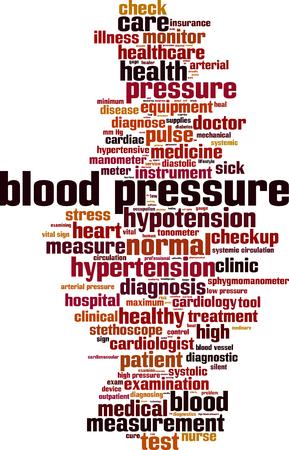 diastolic: Blood pressure word cloud concept. Vector illustration