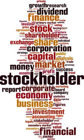 stockholder: Stockholder word cloud concept. Vector illustration Illustration