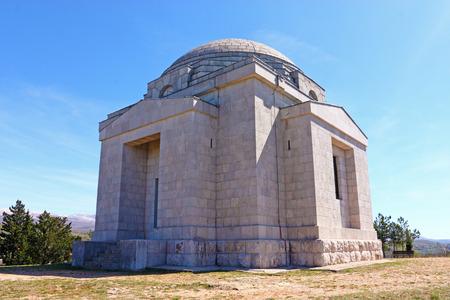 sacra famiglia: Il mausoleo di famiglia Santissimo Redentore Chiesa, Mestrovic fatta da Ivan Mestrovic Archivio Fotografico