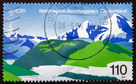 commemorate: GERMANY - CIRCA 1999: a stamp printed in the Germany shows Berchtesgaden, National Park, Germany, circa 1999
