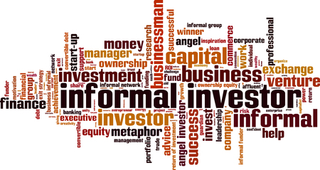 Informal investor word cloud concept. Vector illustration