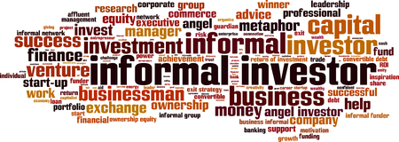 debt management: Informal investor word cloud concept. Vector illustration