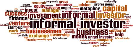investor: Informal investor word cloud concept. Vector illustration
