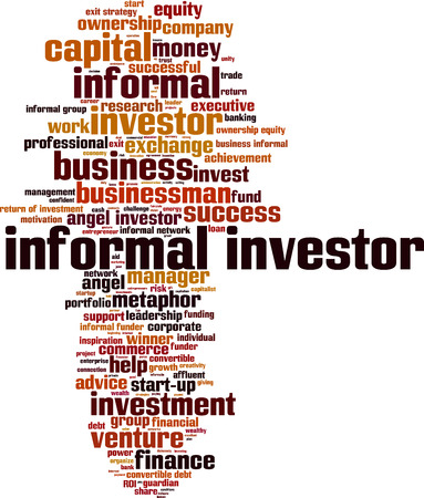 ownership equity: Informal investor word cloud concept. Vector illustration