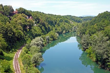 upstream: Kupa River upstream from Ozalj