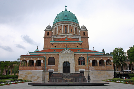 Church of Christ the King with Resting Place of the First Croatian President dr. Franjo Tudman, Mirogoj cemetery Zagreb, Croatia Editorial