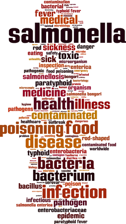 salmonella: Salmonella word cloud concept. Vector illustration Illustration