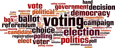 secrecy of voting: Voting word cloud concept. Vector illustration