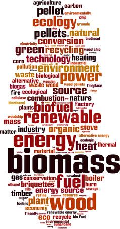biomasa: La biomasa palabra nube concepto. ilustración vectorial Vectores