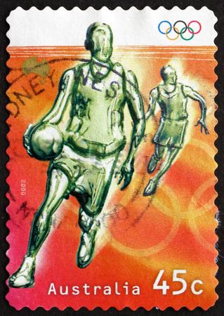 australia stamp: AUSTRALIA - CIRCA 2000: a stamp printed in Australia shows Basketball, Olympic Sport, circa 2000