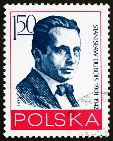 activist: POLAND - CIRCA 1978: a stamp printed in Poland shows Stanislaw Dubois, Polish Journalist and Political Activist, circa 1978 Editorial