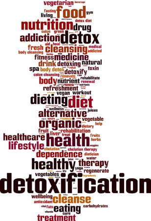 Detoxification word cloud concept. Vector illustration Illustration